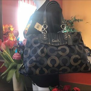 Coach F20055 blue Ashley Opt Art Tote